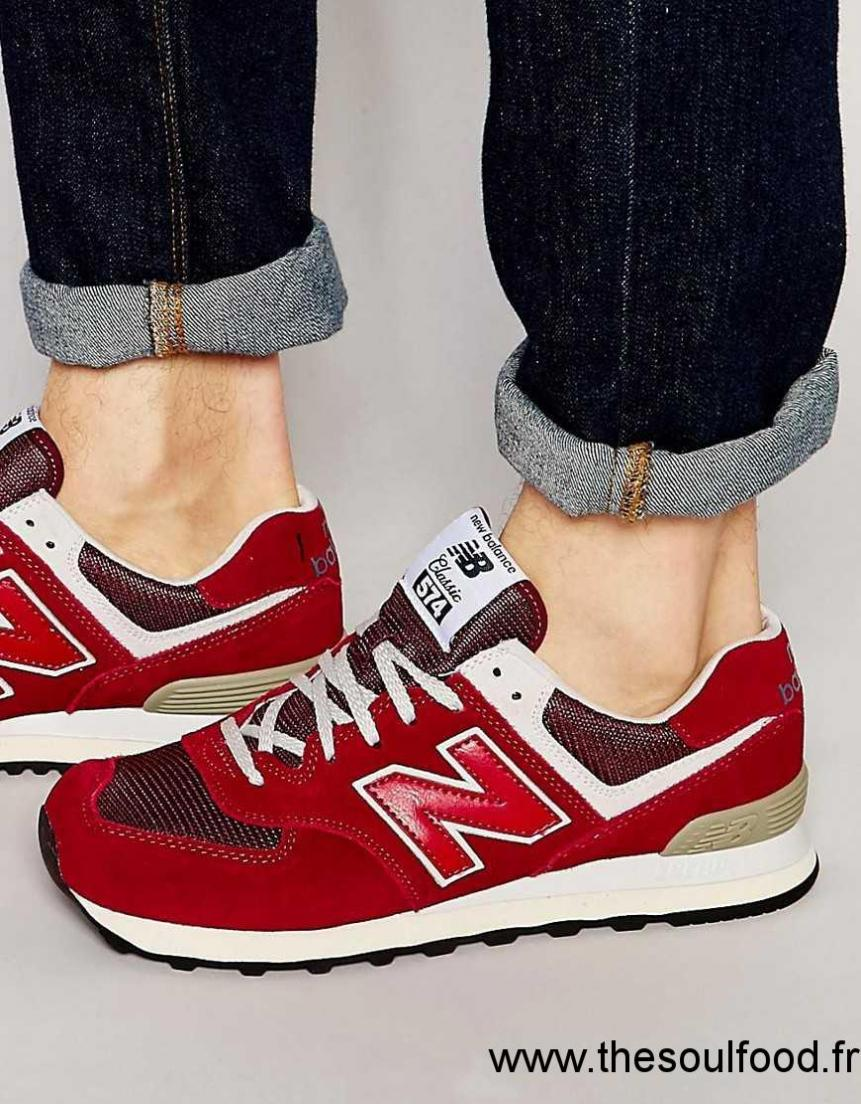 basket homme rouge new balance