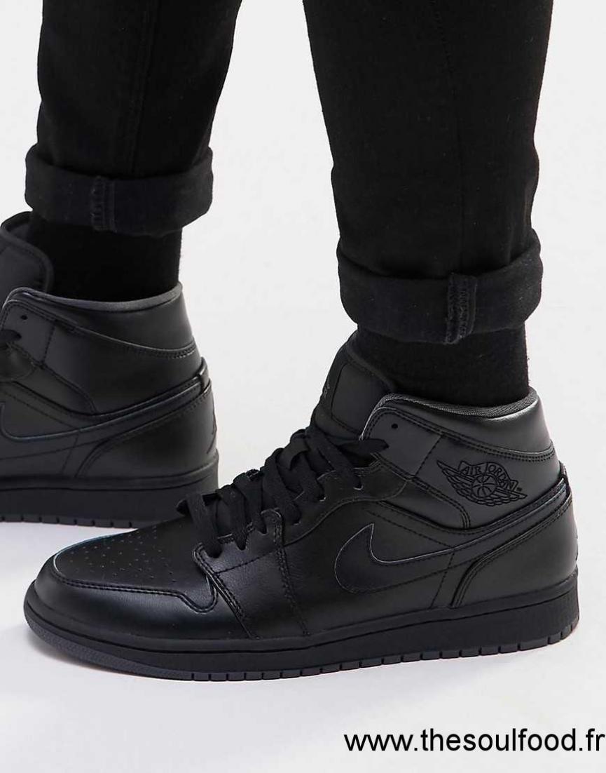 554724 Air Jordan 1 Noir Homme Hautes Baskets Mi 021 Nike v0wOynmN8