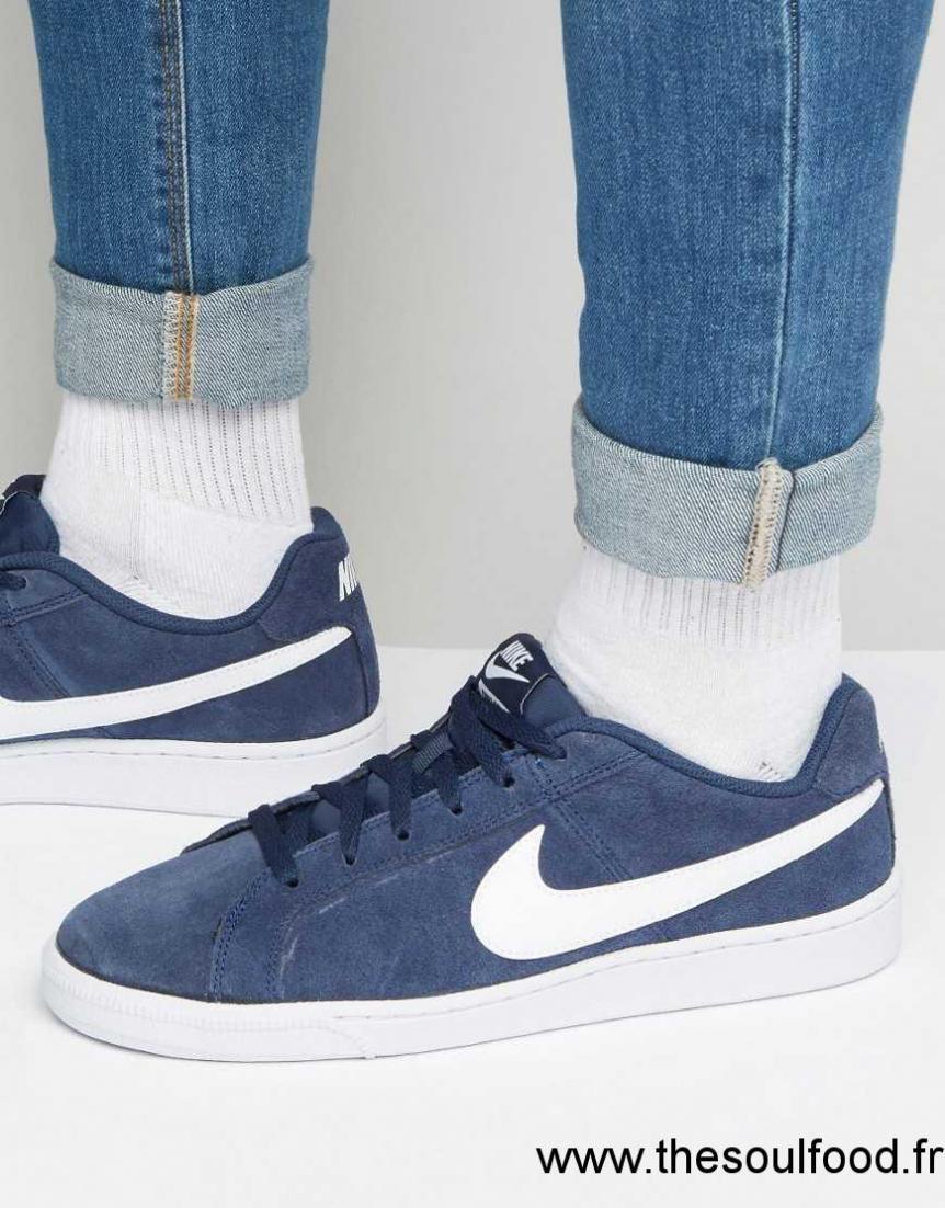 Daim 410 En 819802 Homme Baskets Bleu Nike Royale Court qPfaYqz