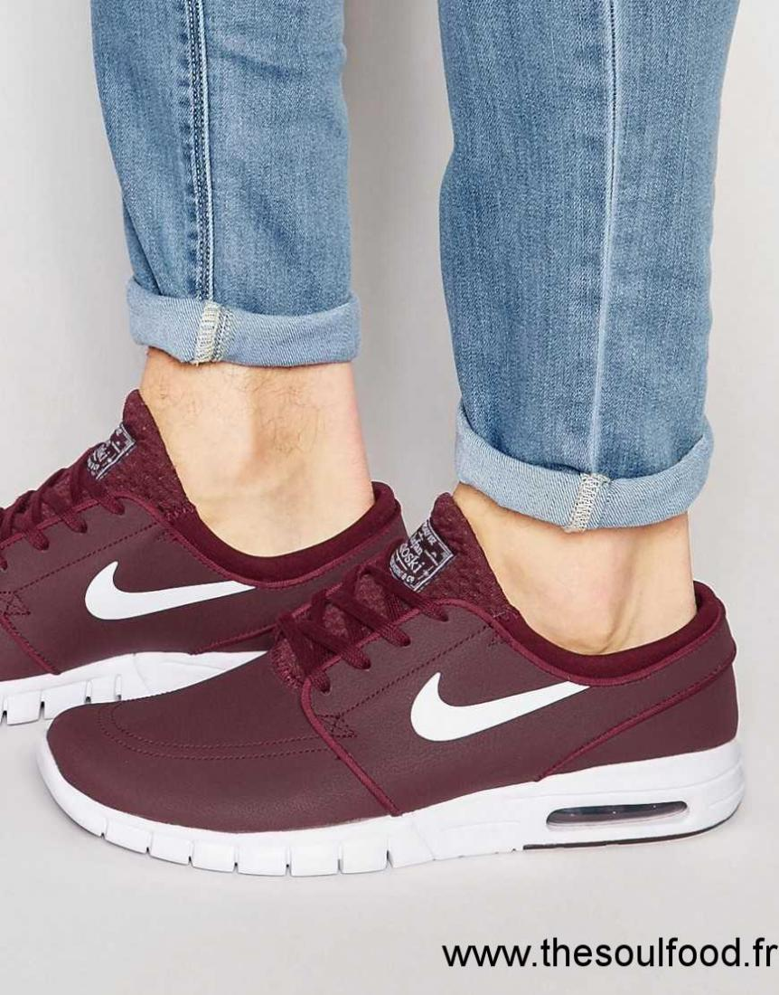 competitive price f6de3 185f4 Nike Sb - Stefan Janoski Max - Baskets En Cuir 685299-611 Homme Rouge  Chaussures   Nike Sb France CP51003412