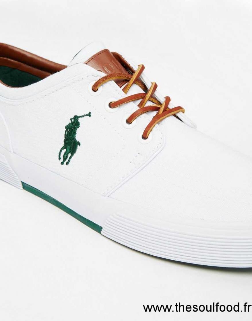 comment avoir coût modéré ramassé Polo Ralph Lauren - Faxon - Baskets Homme Blanc Chaussures ...