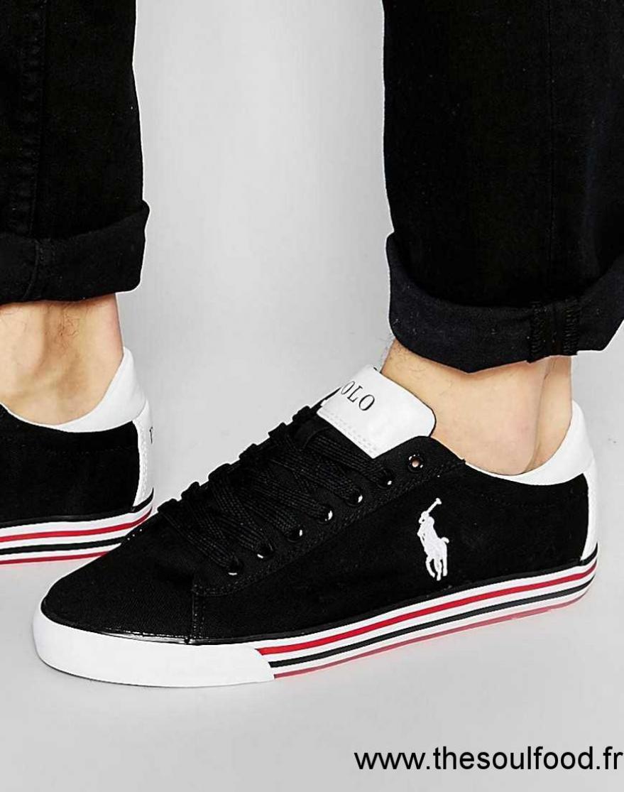 Homme Ewe9bd2yhi Baskets Noir Chaussures Basses Polo Harvey Lauren Ralph W9DIE2H