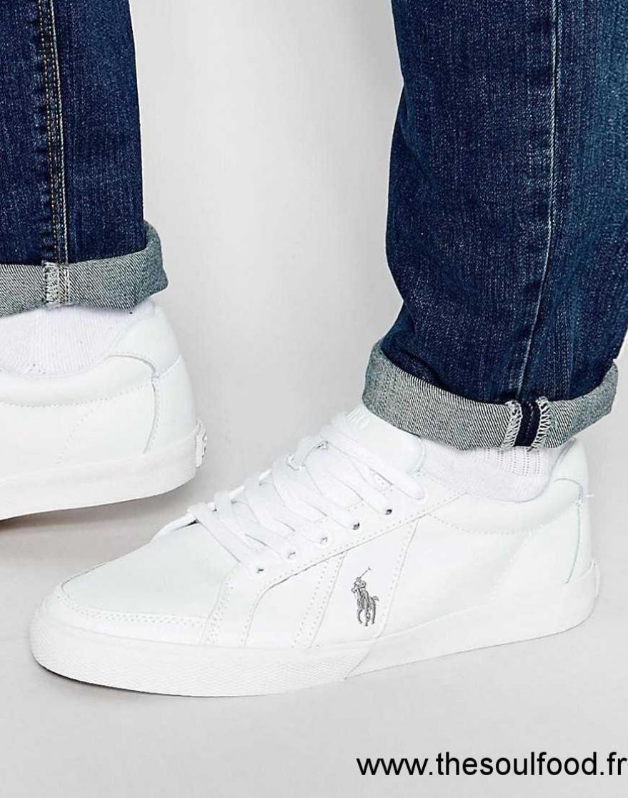 polo ralph lauren hugh baskets en cuir homme blanc chaussures polo ralph lauren france. Black Bedroom Furniture Sets. Home Design Ideas