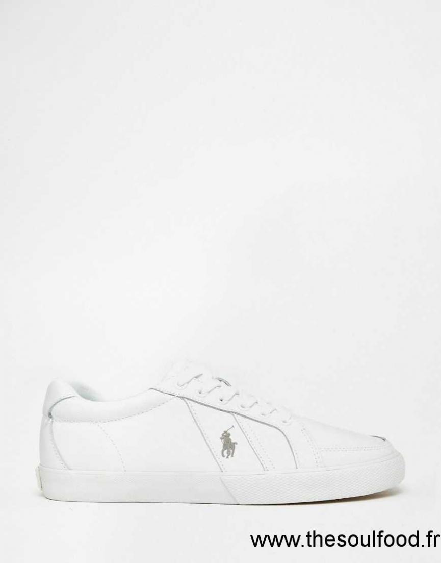 Chaussures Lauren Polo Hugh En Baskets Cuir Ralph Homme Blanc 1lJKTFc3