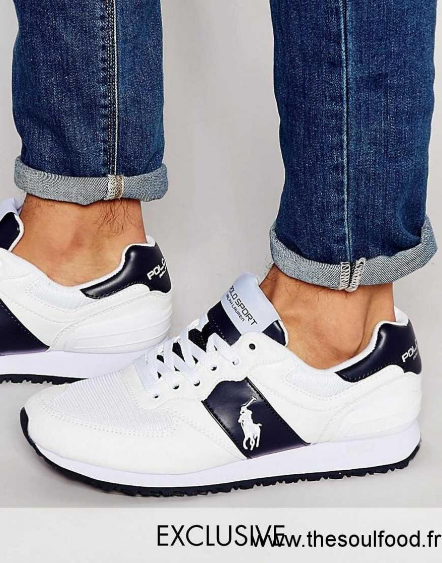 Homme Polo Sport ChaussuresRalph Blanc Griffées Baskets Y6vIfygb7