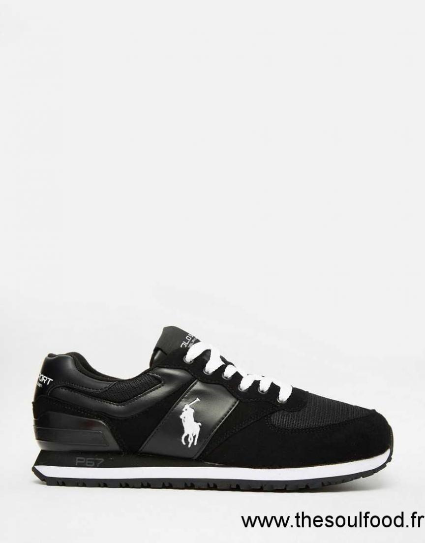 8f76e8ce2f0 Polo Sport - Baskets Griffées Homme Noir Chaussures
