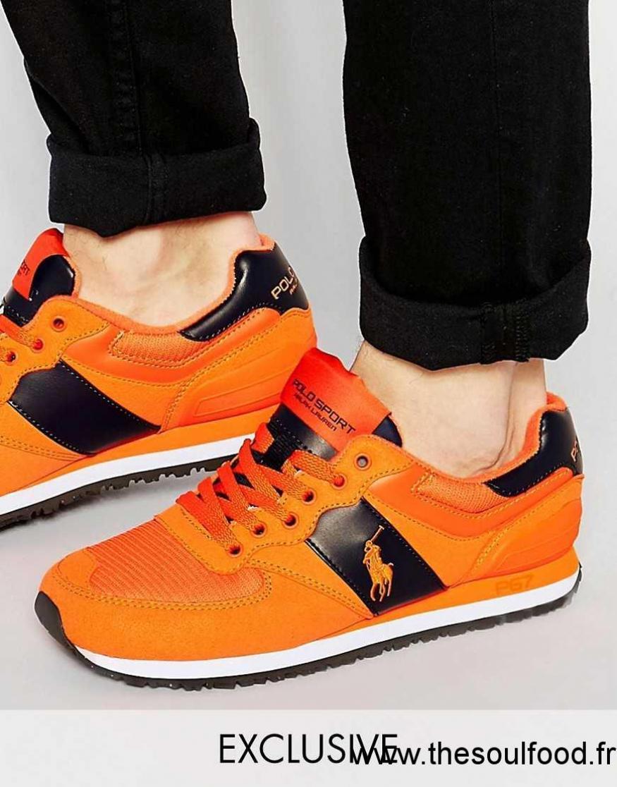 4c6981c1628 Polo Sport - Baskets Griffées Homme Orange Chaussures