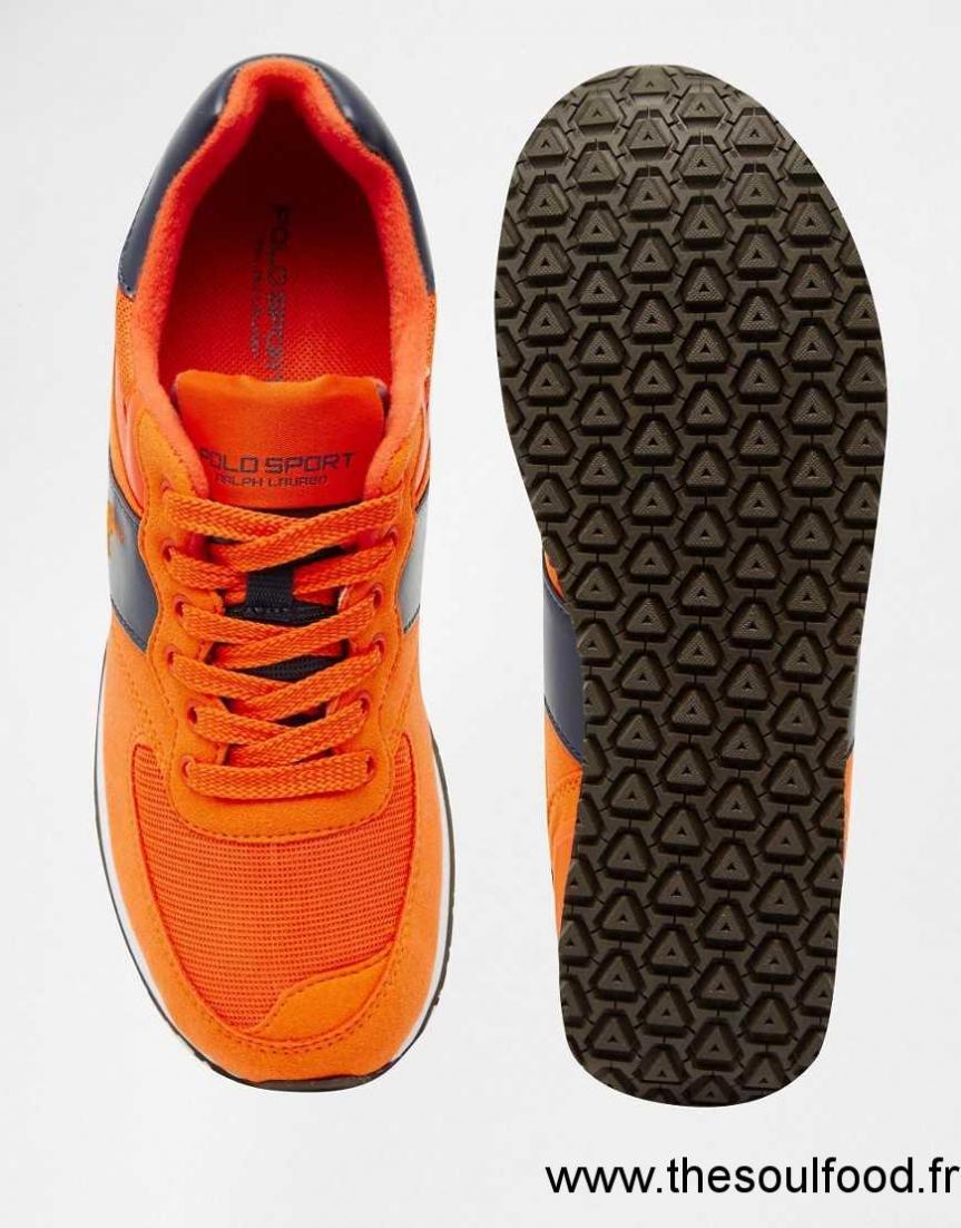 ChaussuresRalph Orange Sport Griffées Homme Polo Baskets EH9IWD2