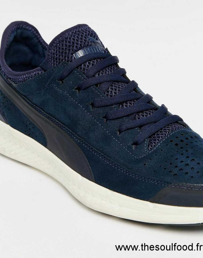 ChaussuresFrance Ignite Homme Puma Sock Bleu Baskets lPkwOuXTZi