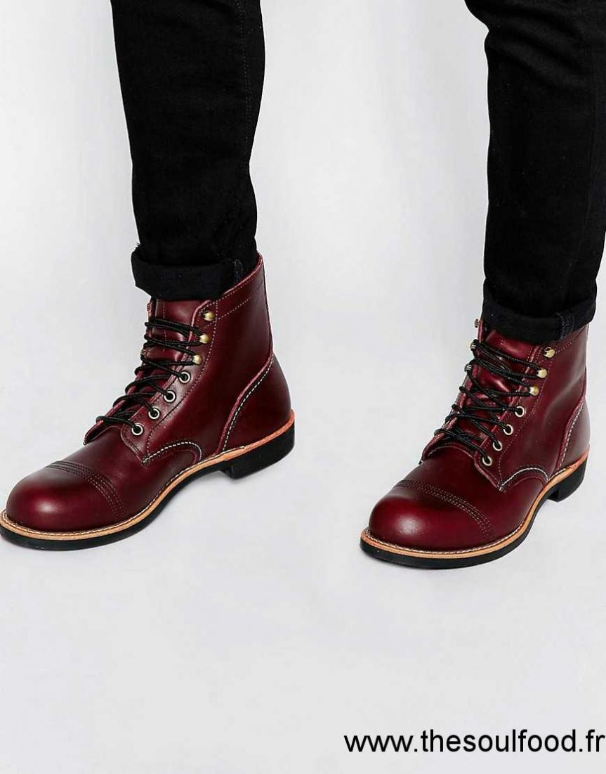 Red Wing Iron Bottines En Cuir Style Rangers Homme