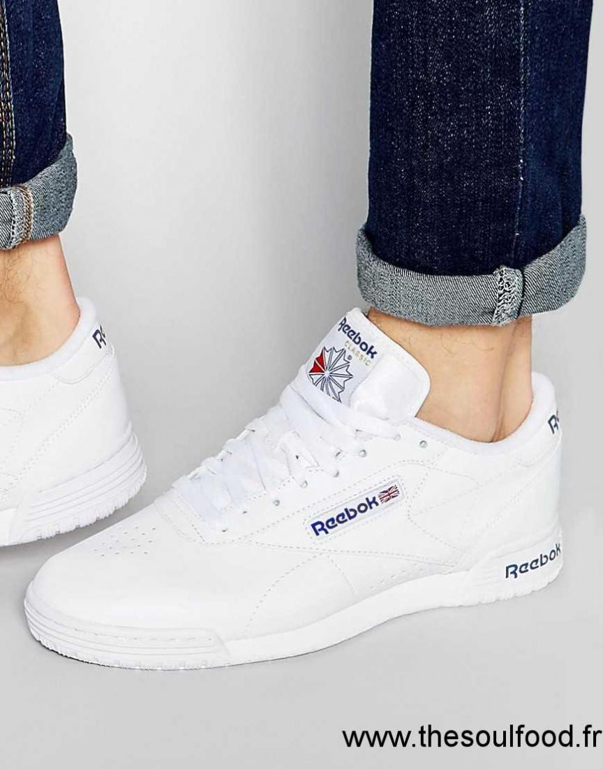 Reebok Exofit R524822 Baskets Basses Épurées Blanc Homme Blanc Chaussures | Reebok France
