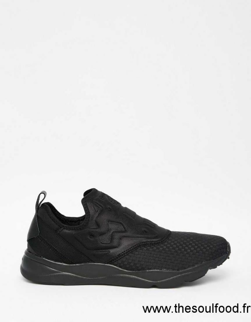 46afbf589563 Reebok - Furylite V70817 - Baskets Sans Lacets En Tissu - Noir Homme Noir  Chaussures | Reebok France RP39003772