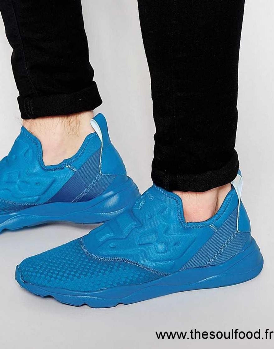 f282df71d9ba Reebok - Furylite V70819 - Baskets Sans Lacets En Tissu - Bleu Homme Bleu  Chaussures | Reebok France PX42003776