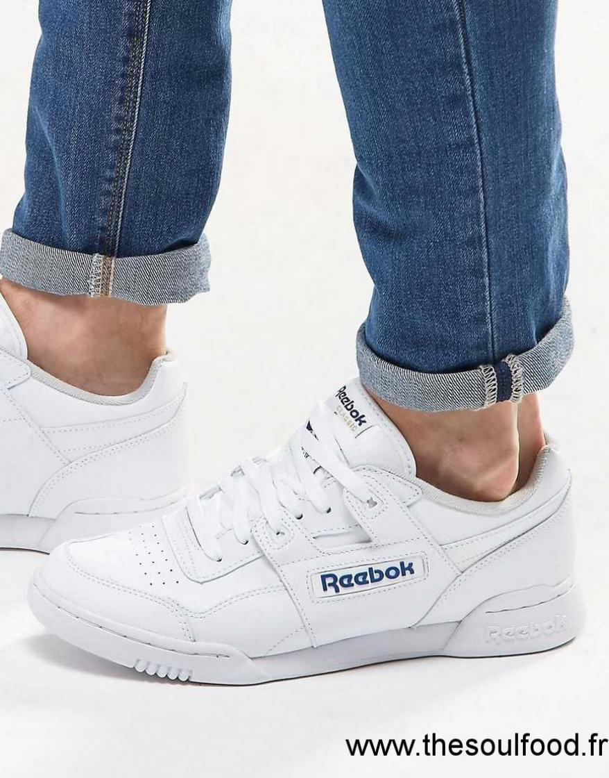 REEBOK Baskets Workout Plus Blanc Homme Chaussures de