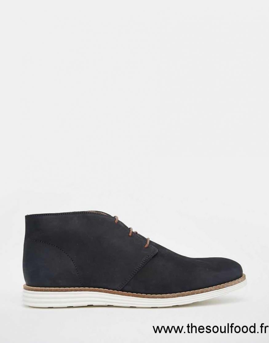 river island bottines chelsea en daim homme bleu marine chaussures river island france. Black Bedroom Furniture Sets. Home Design Ideas