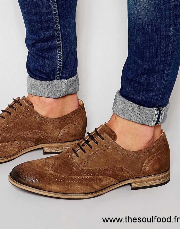 artisanat de qualité détails pour meilleur grossiste Selected Homme - Bolton - Chaussures Richelieu En Daim Homme ...