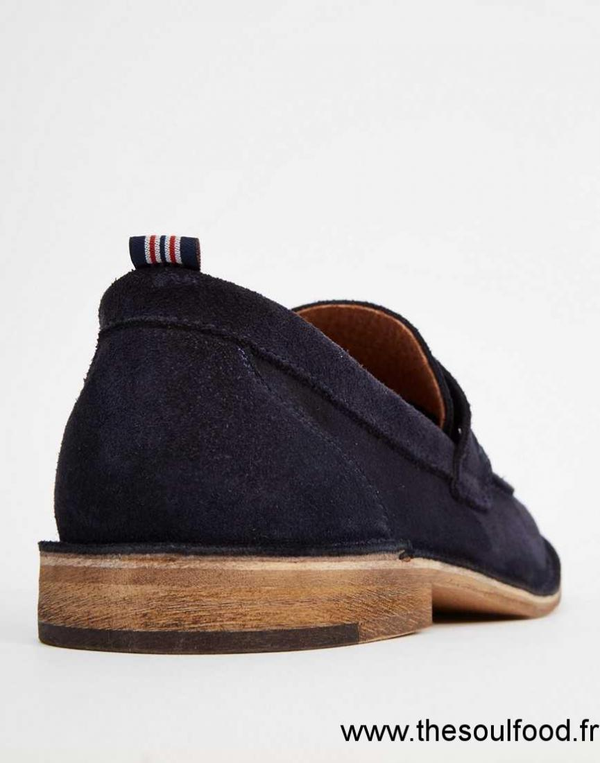 Selected Homme Ley Mocassins En Daim Homme Bleu Chaussures | Selected Homme France WA37003992