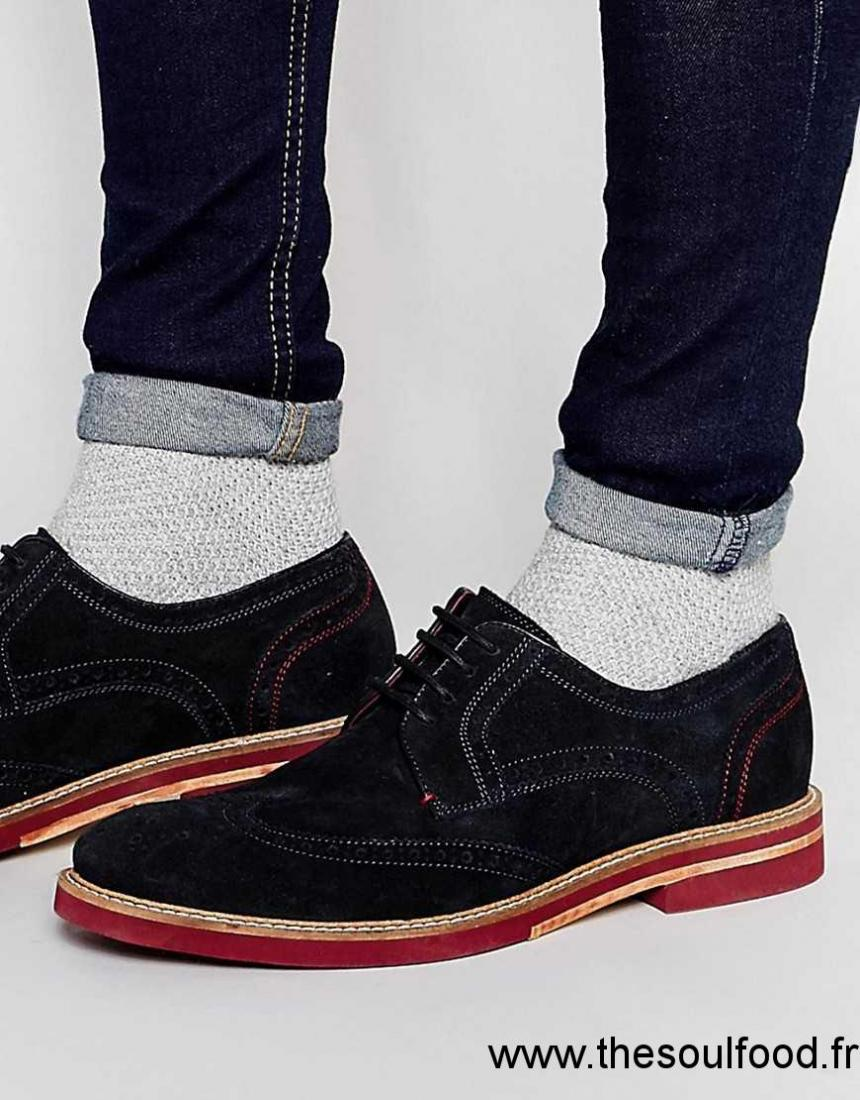 acabb30981de7 Ted Baker - Archerr - Chaussures Derby Style Richelieu En Daim Homme Bleu  Chaussures   Ted Baker France DH84004195