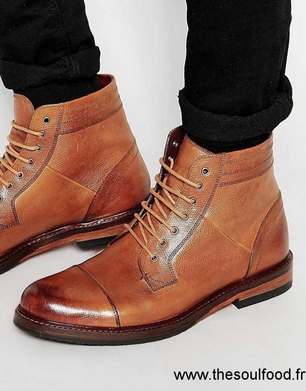 8d2751d5001 Ted Baker - Musken - Bottes À Lacets Homme Marron Chaussures