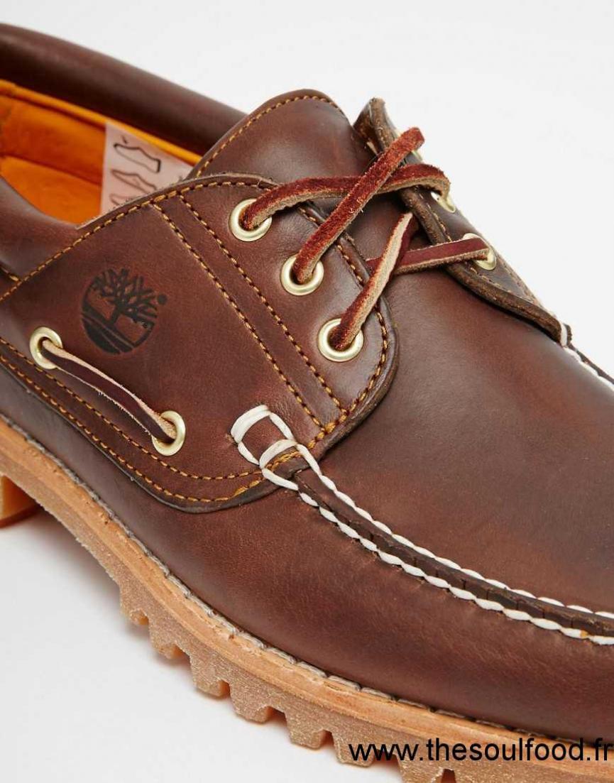 Timberland Lug Chaussures Bateau Classiques Homme Marron