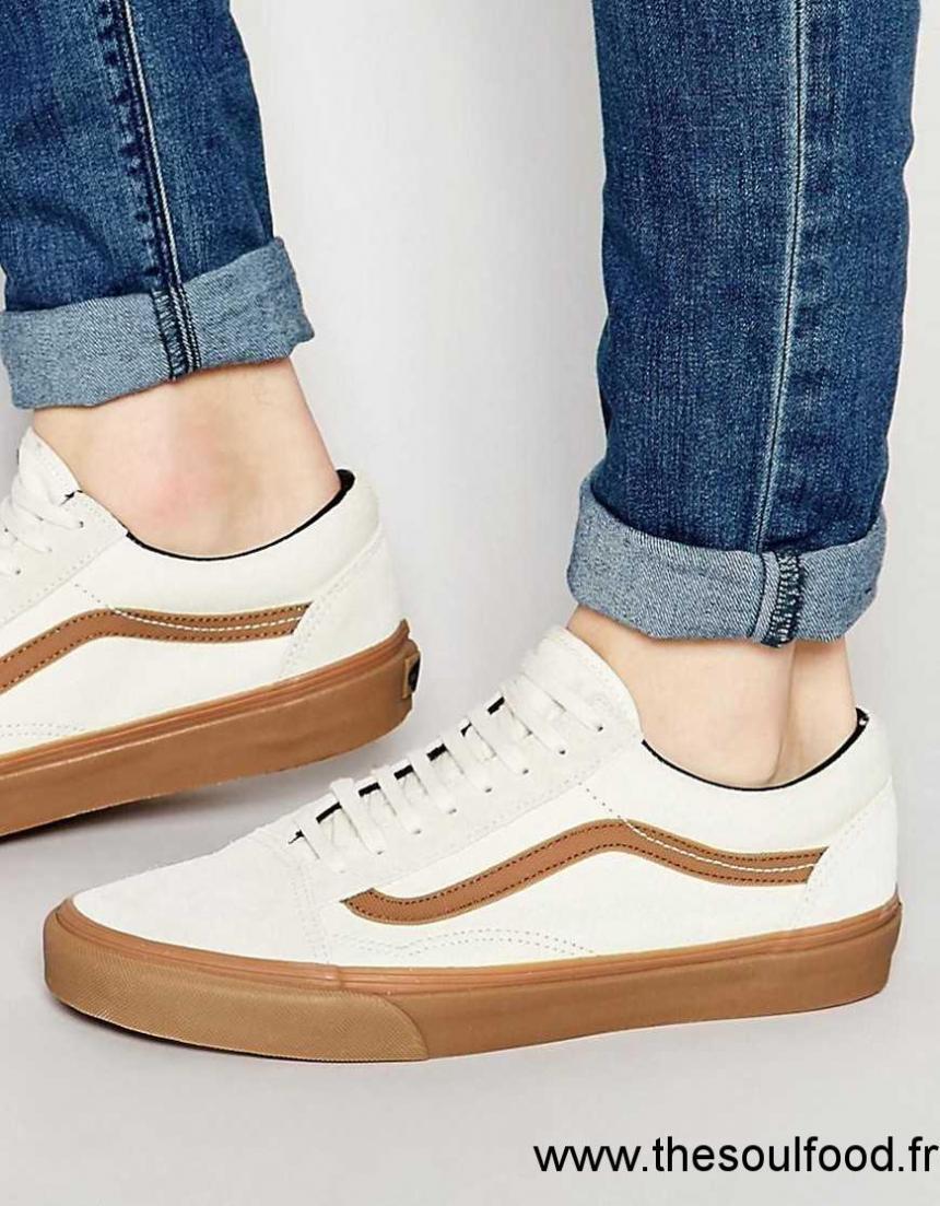 chaussure vans semelle marron