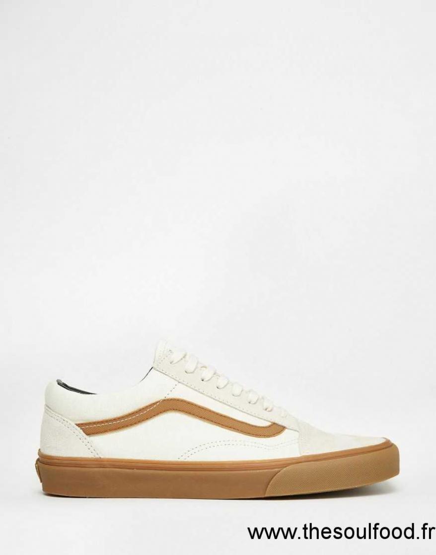 vans blanche semelle marron