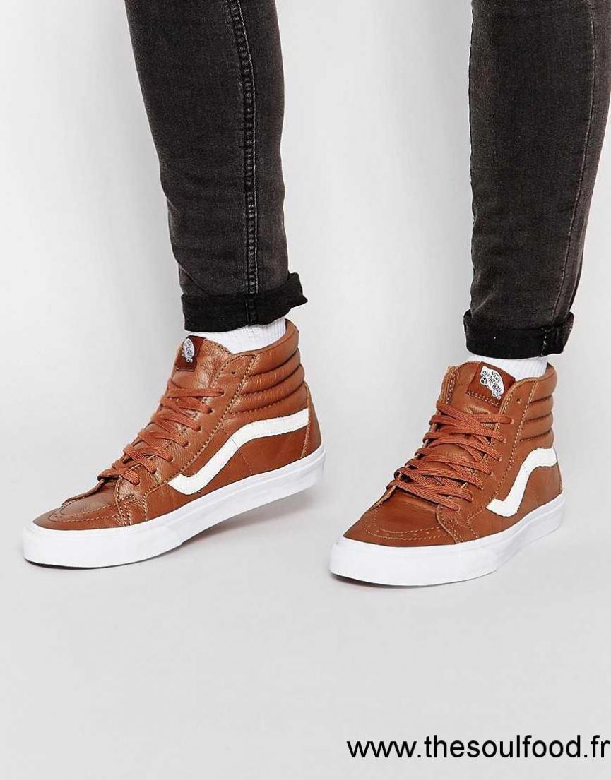 Marron Vans Chaussures Cuir Baskets Homme Sk8 Montantes En oEBxeQrdCW