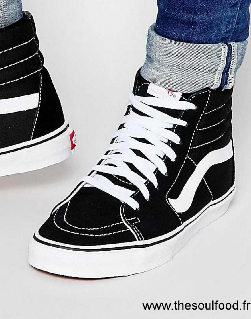 vans sk8 hi baskets montantes homme noir chaussures vans france wp18004490. Black Bedroom Furniture Sets. Home Design Ideas