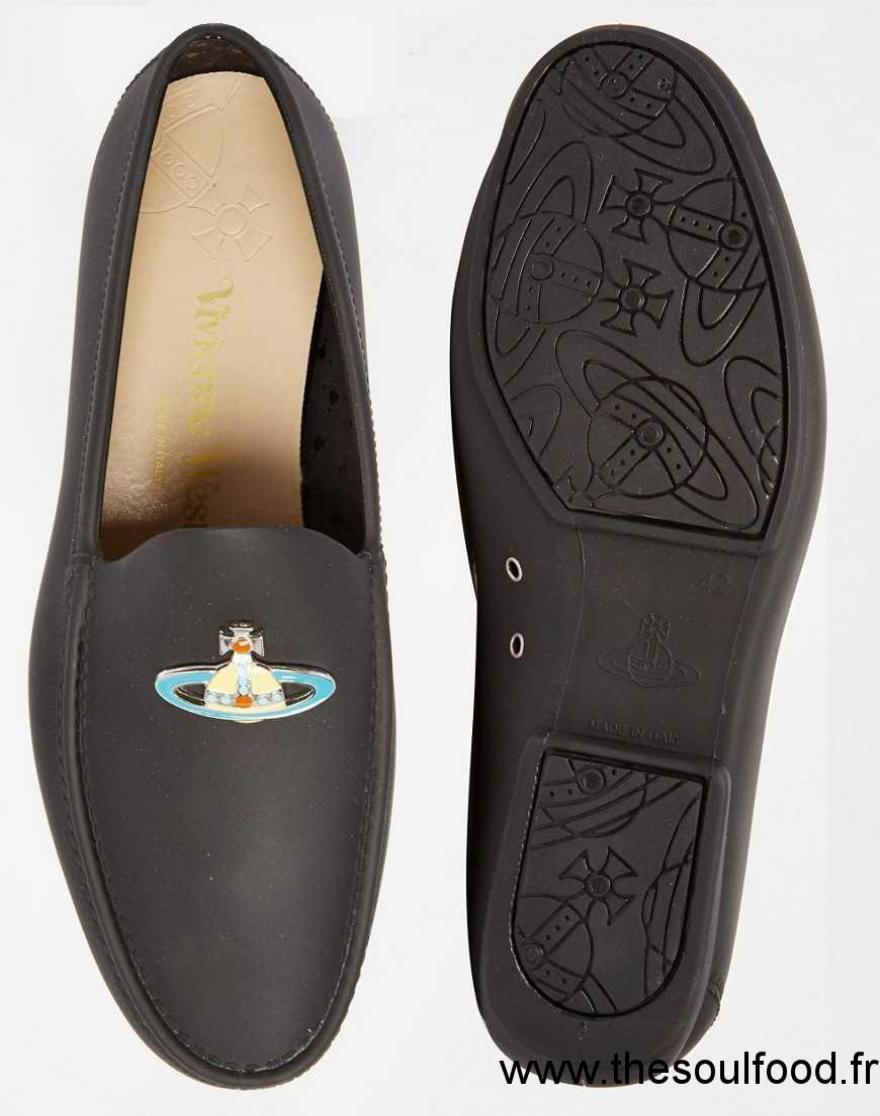 Vivienne Westwood Mocassins Avec Orbe Homme Noir Chaussures | Vivienne Westwood France PH55004535